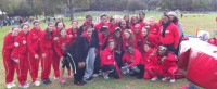 Members of the Cross-Country team pose at Cunningham Park in Queens.