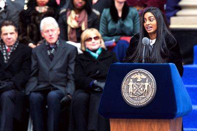 Freshman Ramya Ramana recites poem for Bill de Blasio's opening ceremony