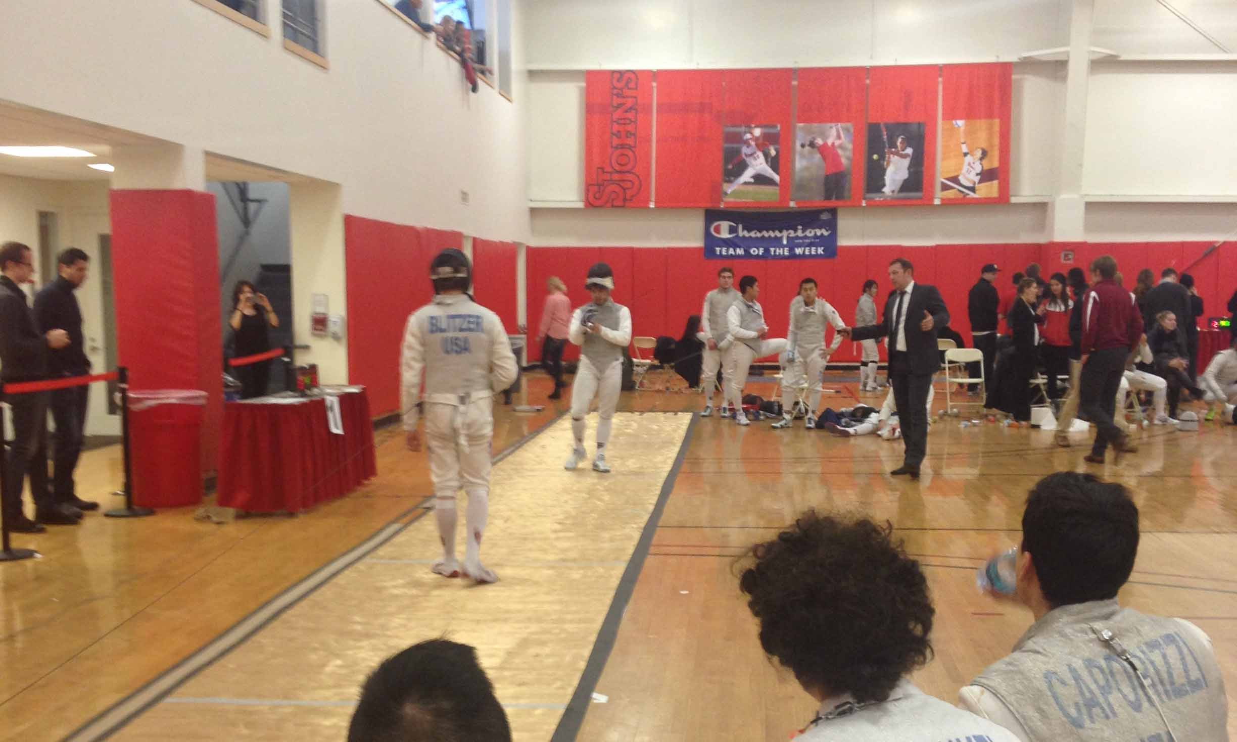 After Sunday's invitational, Blitzer admitted there are aspects of his fencing he needs to work on.