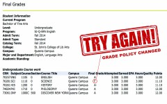 University introduces new grade change policy