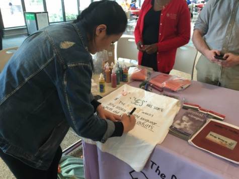 The Clothesline Project encourages students to speak up
