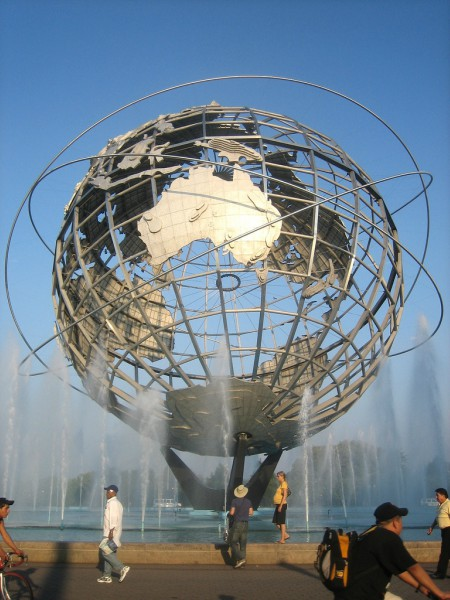 Unisphere at Flushing Meadows-Corona Park near the Queens Museum.