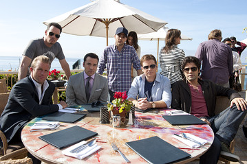 Entourage stars Scott Caan, Kevin Dillon, Jeremy Piven, Jerry Ferrara, Kevin Connolly and Adrian Grenier