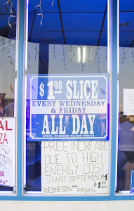 Vincenzo's Raises Price for 'Dollar Slices'