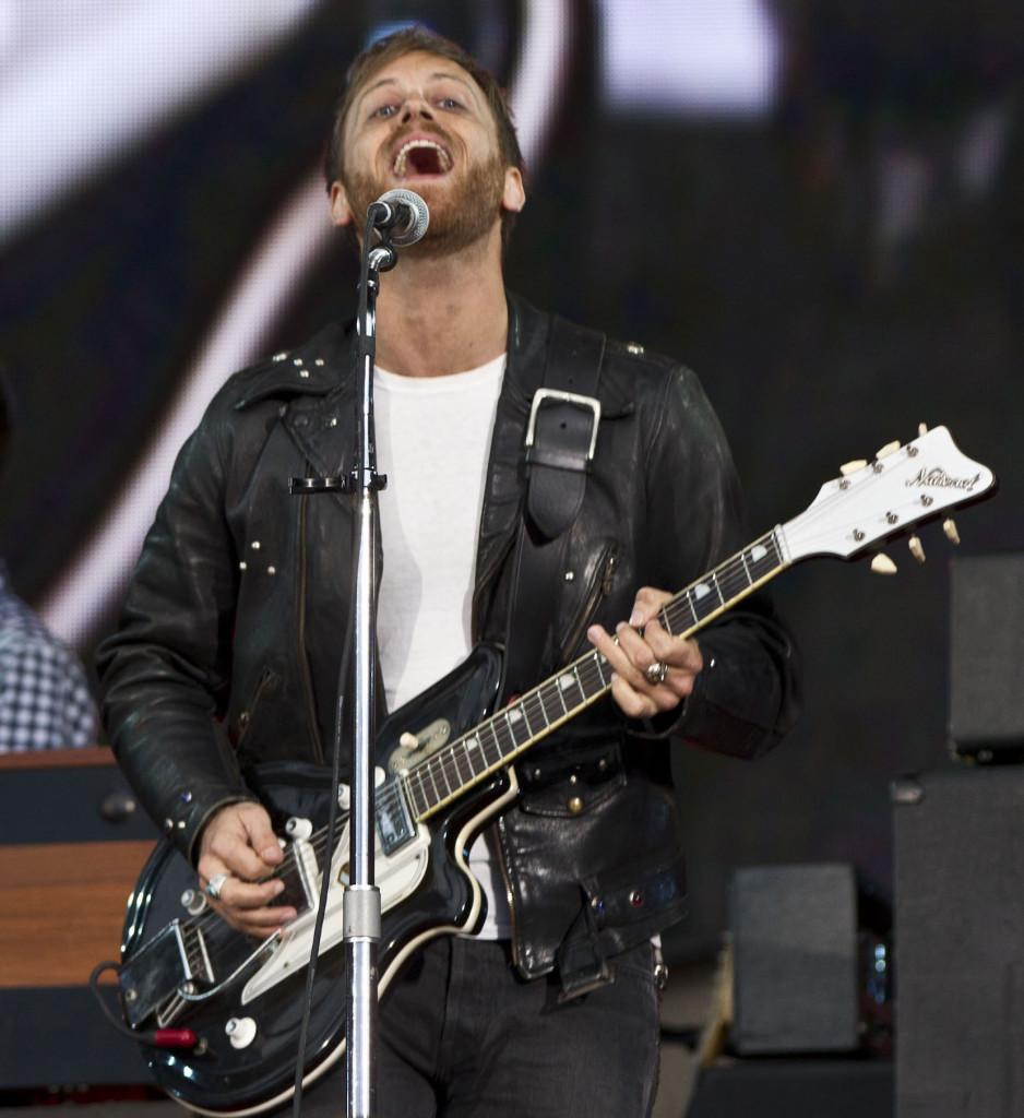 Dan Auerbach, lead singer of The Black Keys, performs during the Global Citizen Festival in New York