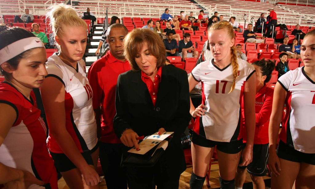 Volleyball head coach Joanne Persico's team improved 10 games over the previous year and are looking to rise even higher this upcoming season.