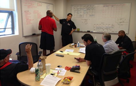 The coaching staff prepares for Europe.