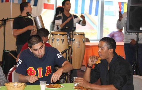 Students partake in events at the Hispanic Heritage Month kick-off.