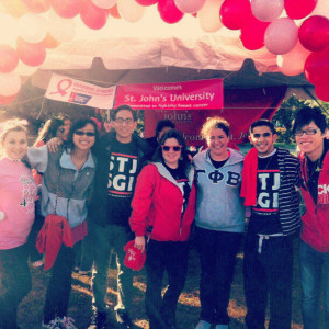 Students participated in last year's Making Strides Against Breast Cancer Walk.
