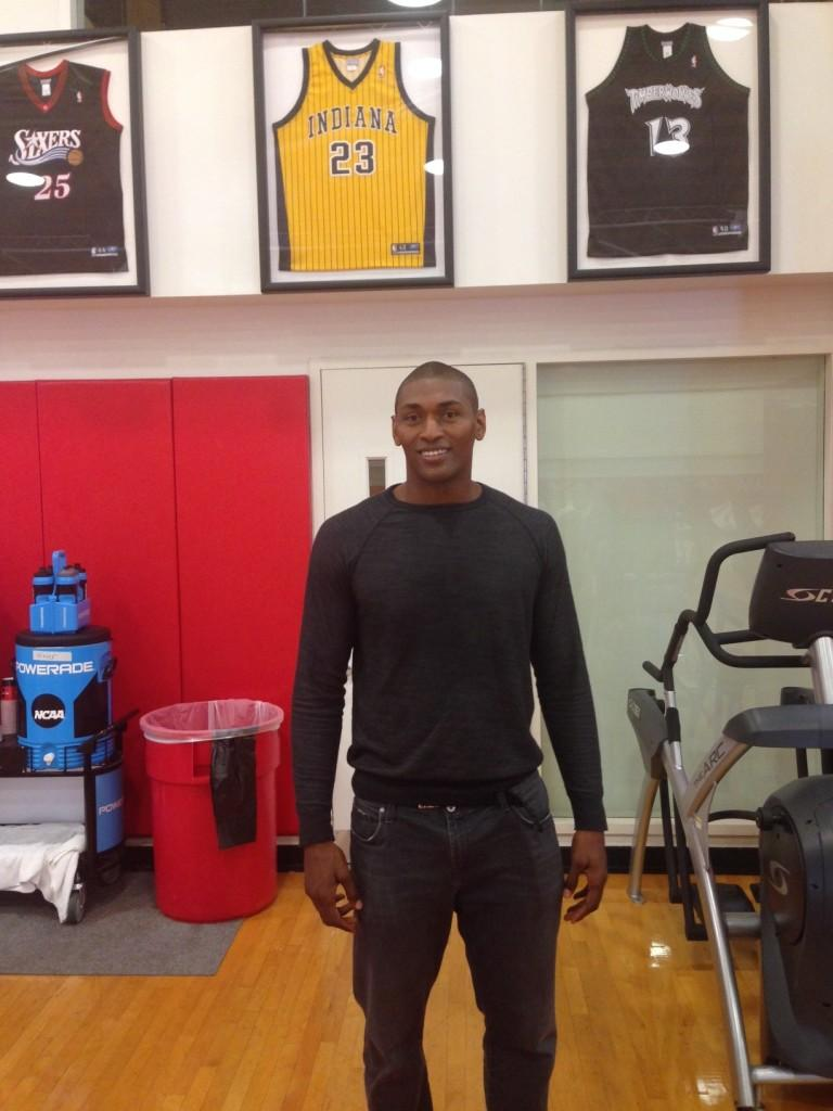Metta World Peace paid his alma mater a visit on Sept. 28.