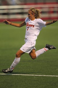 Rachel Daly stands alone at the top of the St. John's single-season scoring list.