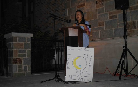 Students gather to promote non-violence on campus.