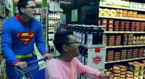 "Rapper Joe 'Comet' Comito and Kurt Cruz during their ""Onesie"" music video."
