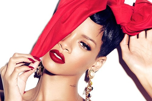 Rihanna wearing the