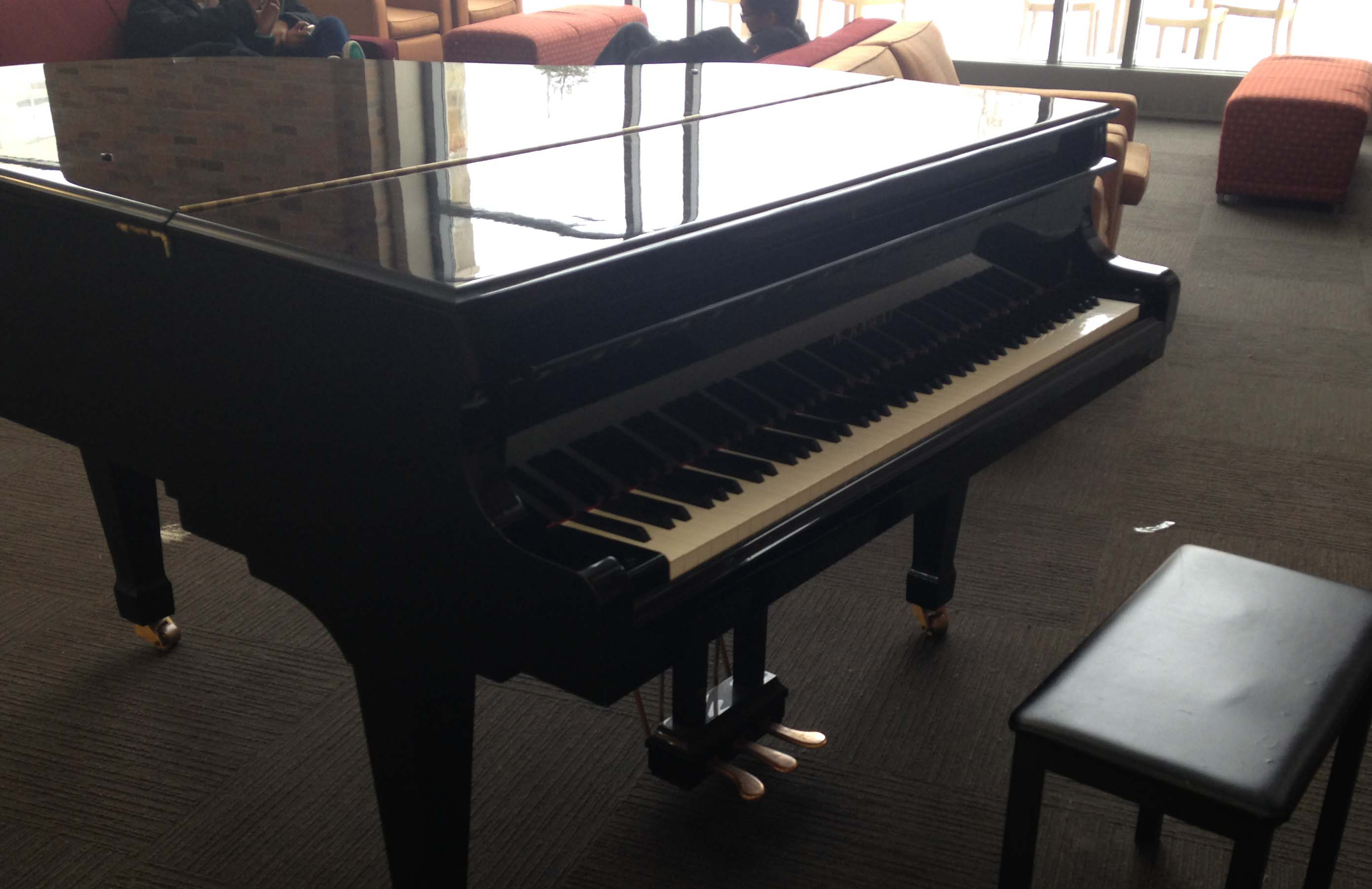 The DAC piano that students often play throughout the day.