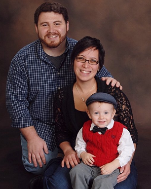 Hannah and Andrew with their 2-year-old son Ben