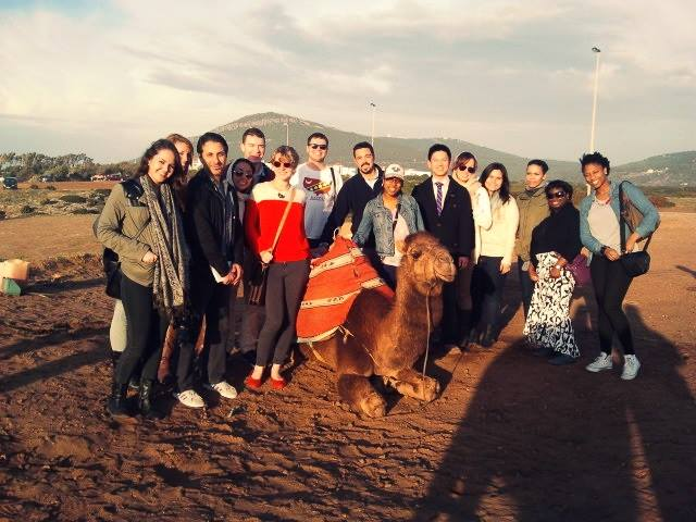 St. John's Students in Morocco during their 10-day stay over Christmas break.