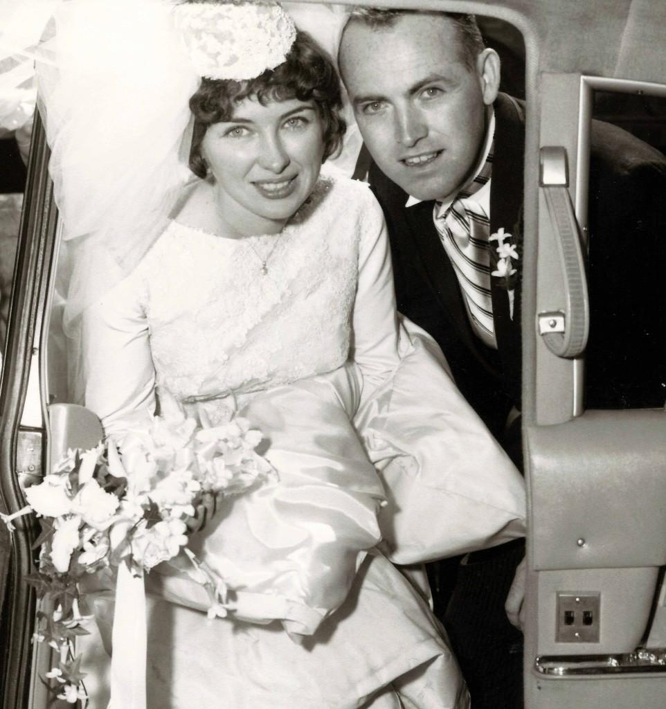 Tom and Barbara on their wedding day 50 years ago