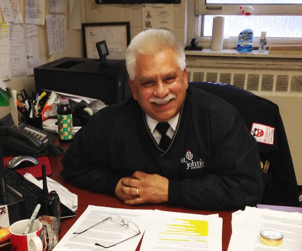 Lieutenant Ralph Pascullo at his desk in his office at St. John's