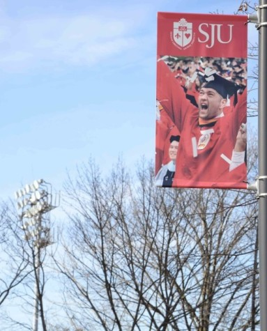 A new sign part of St. John's rebranding efforts to attract more students to enroll.