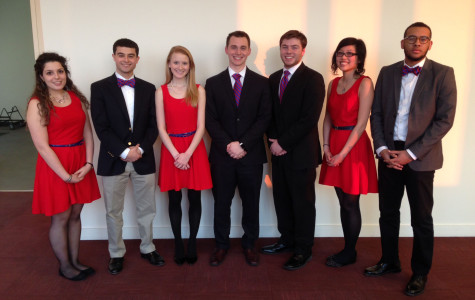 Budget Committee Chair Robert Koehler (pictured in the middle) will lead the SJU Fresh ticket.