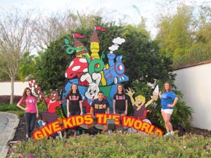 St. John's Students at Give Kids the World in Florida over their spring break.