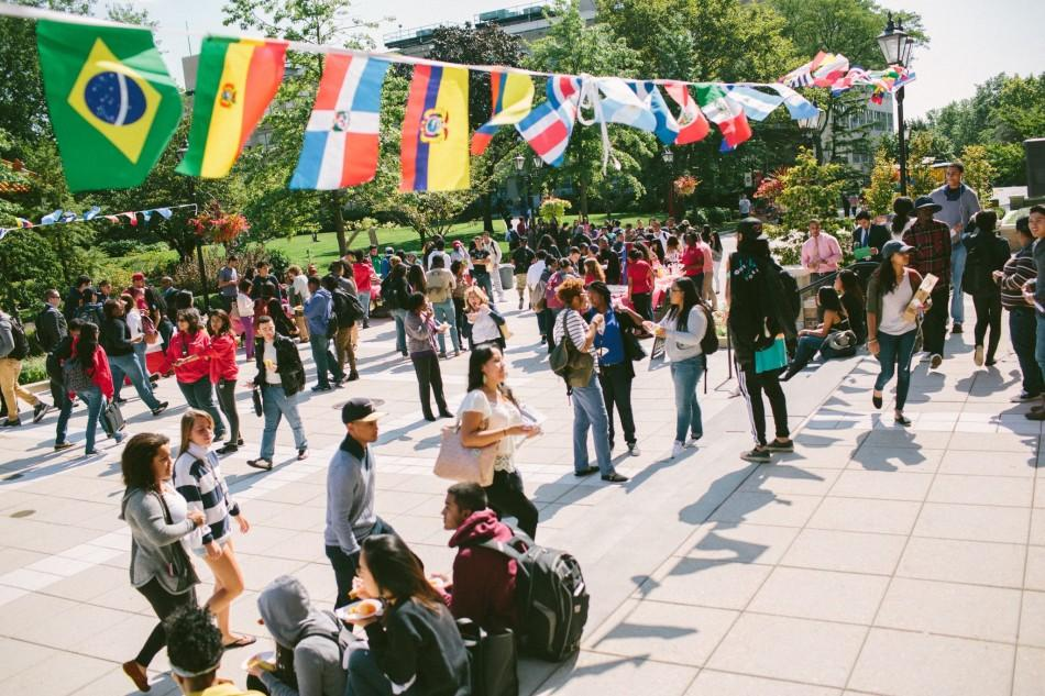 Hispanic Heritage Month kicked off with an event in DAC Plaza, pictured above. Photo: St. John's Student Life Facebook page