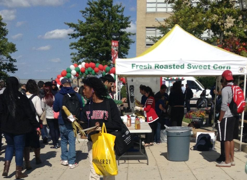 Students enjoy a wide variety of Italian foods at St. John's own San Gennaro Festival, pictured above.