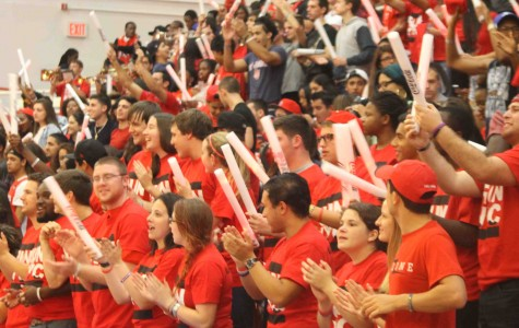 The RedZone section can be identified as the boisterous students in the red shirts.
