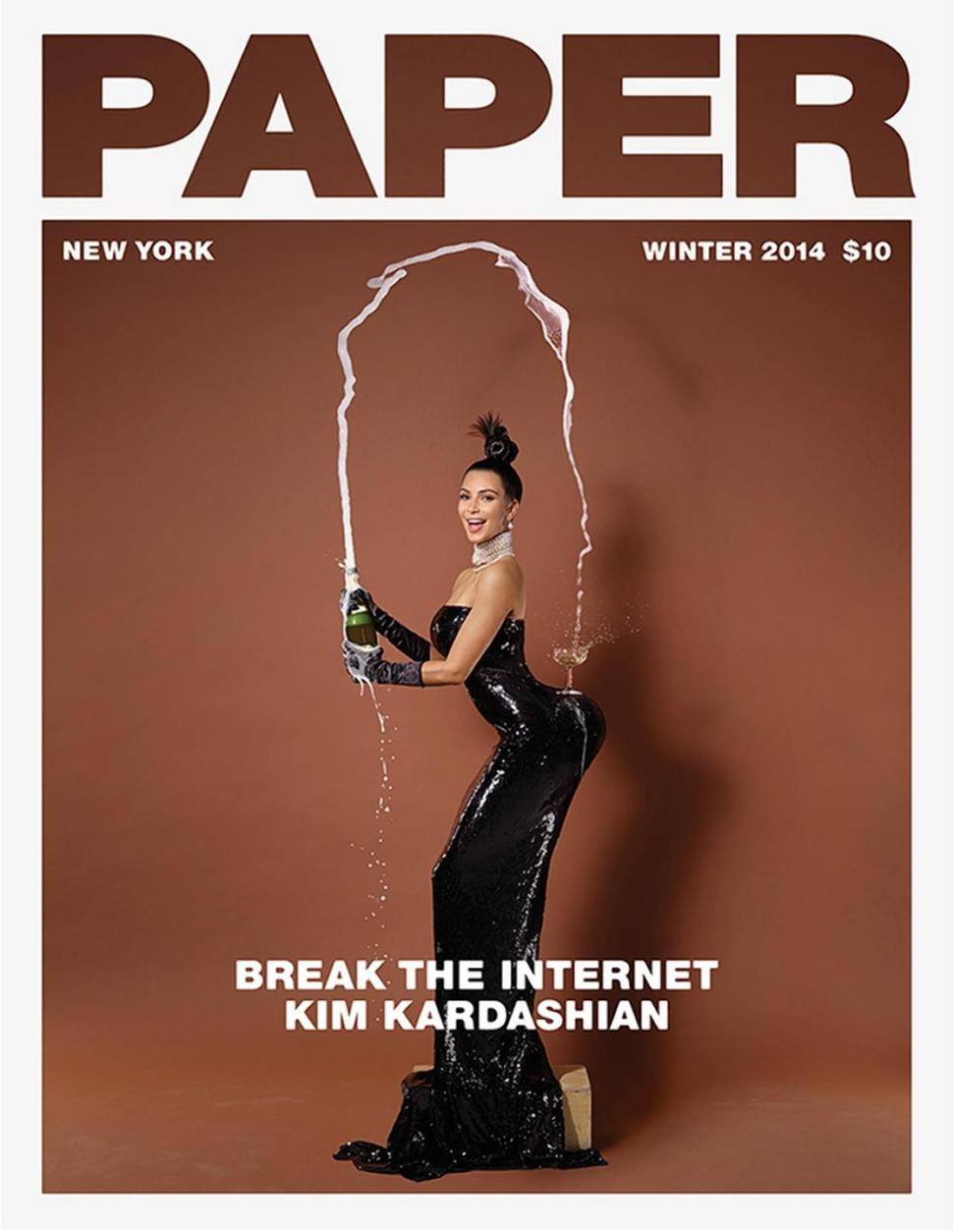 Kim Kardashian graced the cover of Paper magazine, but it's the pictures inside that have got the people talking.