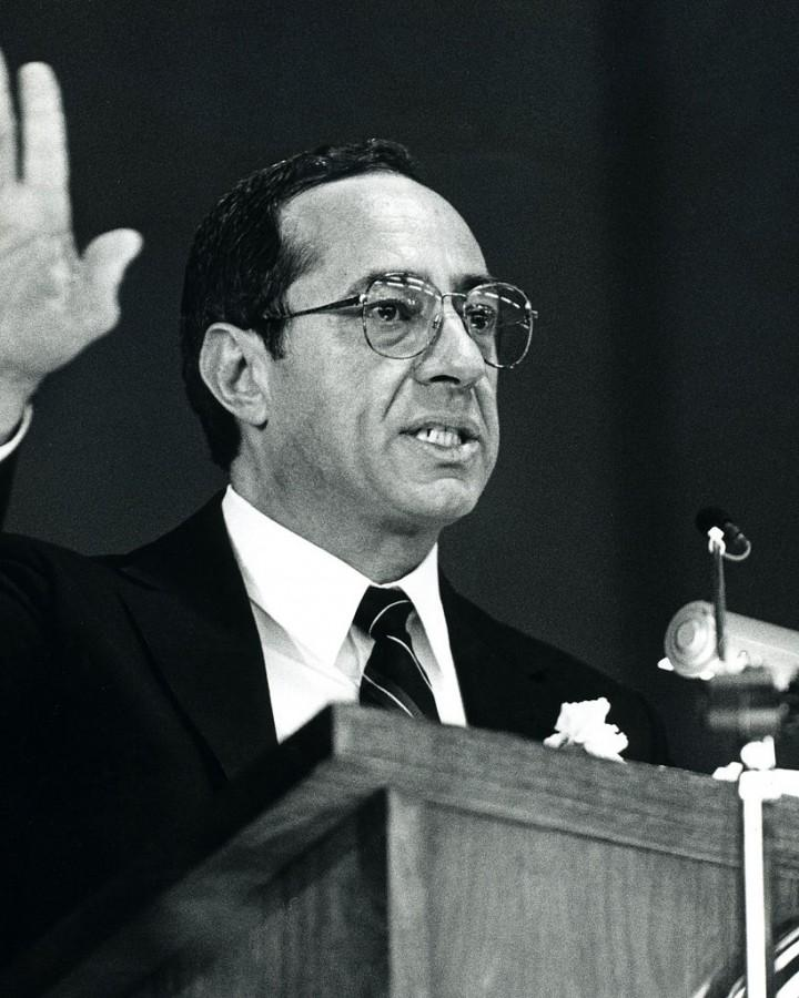 Governor Mario Cuomo speaks at Cornell University in 1987. Photo: Wikimedia Commons