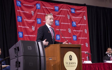 Chris Mullin at his introductory press conference on April 1.  Photo by: Diana Colapietro, Photo Editor