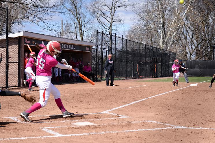 Erin Burner hit her 40th career home run at St. John's on Sunday versus Providence, a first inning grand slam.   Photo by: Diana Colapietro, Torch Photo Editor