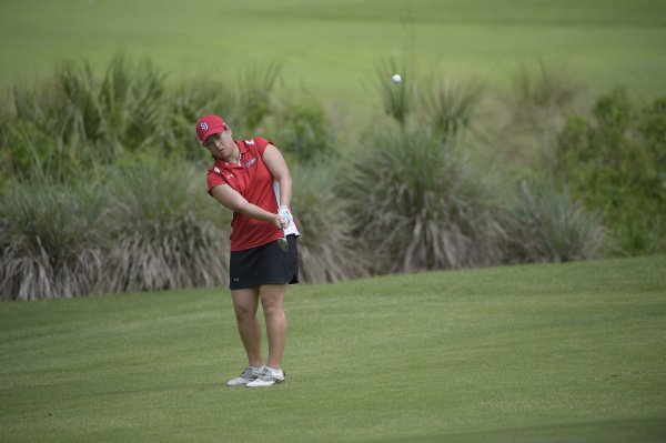 Anna Kim's calming influence helped lead the Red Storm to a fourth place finish at the Big East Championships in Florida