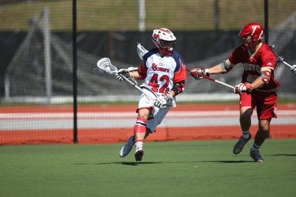 Stefan Diachenko scored three goals in the loss to Villanova on Saturday