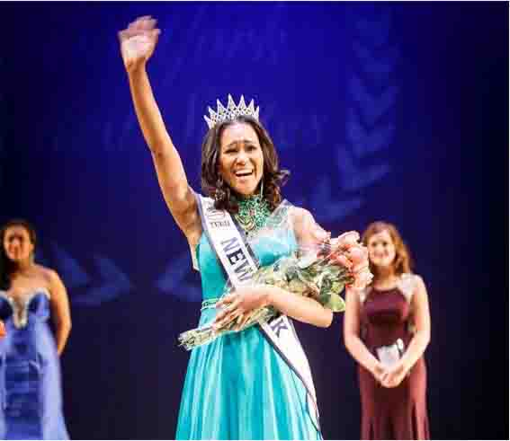 Andreia Gibau was overwhelmed with joy when they announced her as Miss Teen New York.