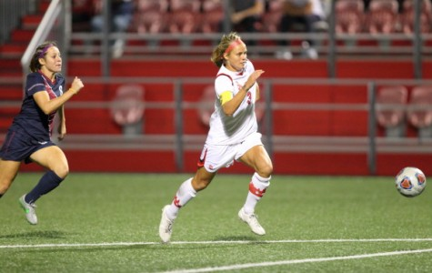 Rachel Daly has blown past the competition recently, scoring two goals in three straight games, en route to tying the St. John's all-time goal record of 40 career goals. The record was previously held by Adriana Viola.  (Photo: Athletic Communications)