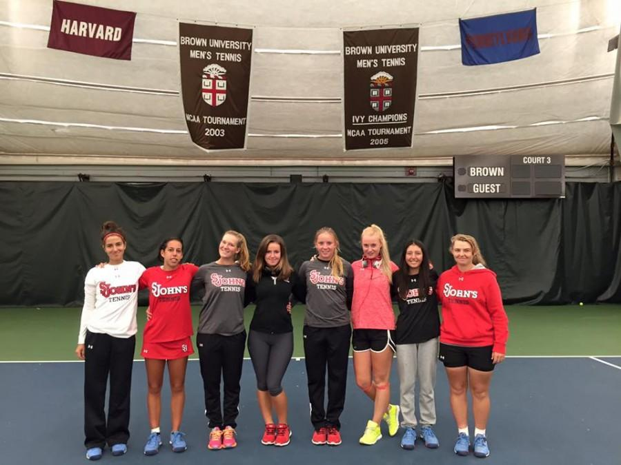 The St. John's women's tennis team competed at the Brown Invitational this weekend. (Photo: Athletic Communications)