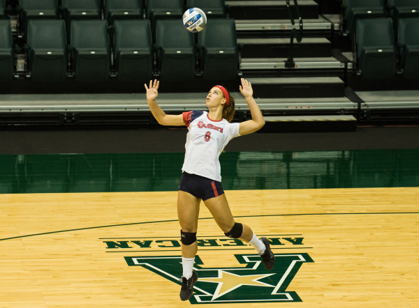Margherita Bianchin had an impressive match against Butler with 14 kills and 13 digs. (Photo: Athletic Communications)