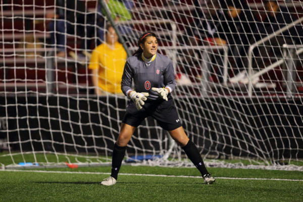 Reigning Big East goalkeeper of the year Diana Poulin remains a stout presence in net coming off wrist surgery (Photo: Athletic Communications)