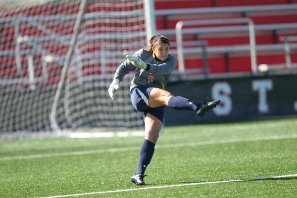 St. John's goalkeeper made a pair of saves in overtime to preserve a 1-1 draw against DePaul (Photo: Athletic Communications)