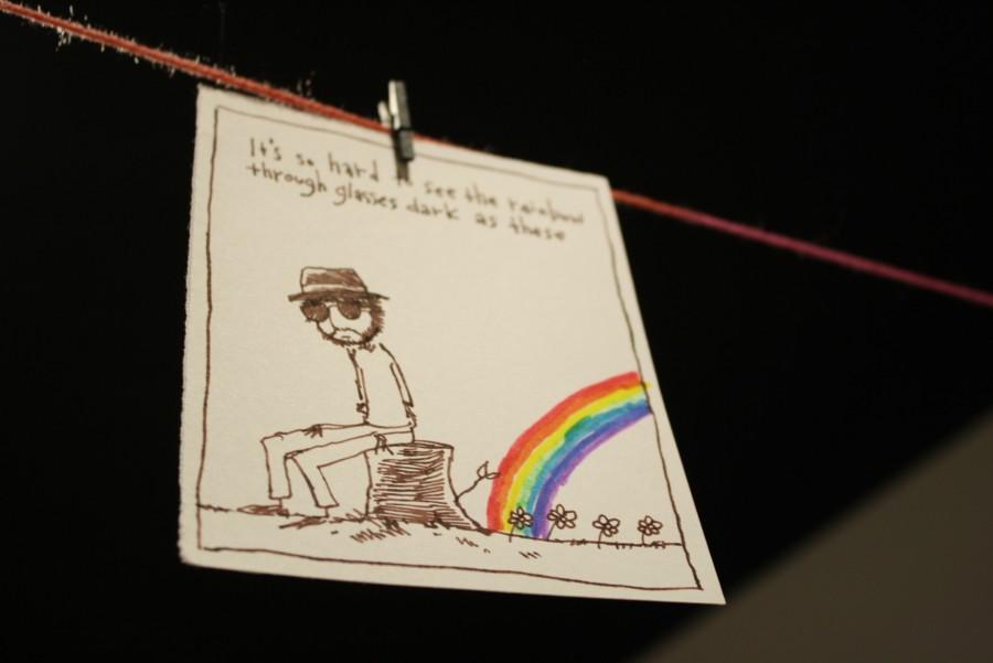 Odone prefers pen and ink illustration.