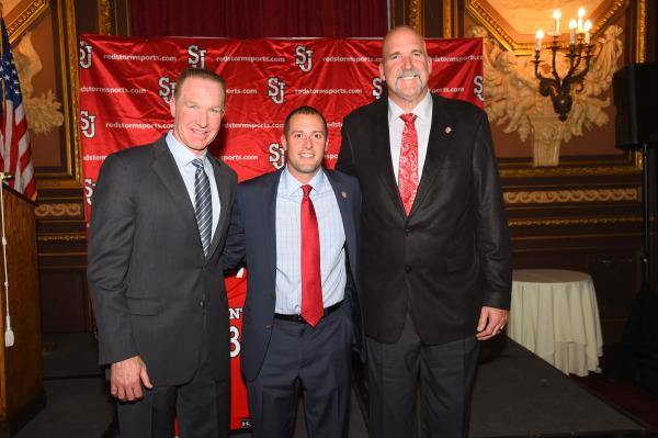 Chris Mullin, Joe Tartamella, and St. John's alum and 3X NBA Champion Bill Wennington (Photo: Athletic Communications)