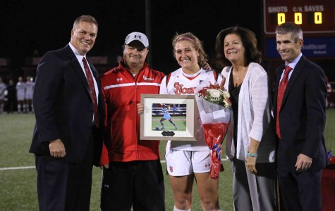 Emily Cubbage's physicality and grit on the pitch has been instrumental to the success of St. John's women's soccer over the last four seasons (Photo: Gina Palermo, Design Editor)