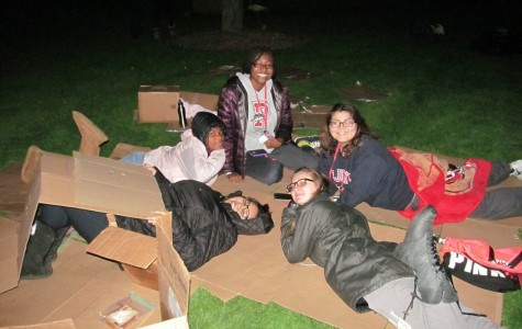 Students spent their Tuesday night sleeping in cardboard boxes on the Great Lawn in order to raise awareness for the homeless in New York City.
