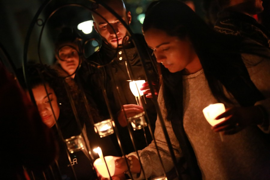 Over 40 students gathered on the Great Lawn on Nov. 16 in remembrance of the victims who lost their lives and those who were affected by the recent tragedies.