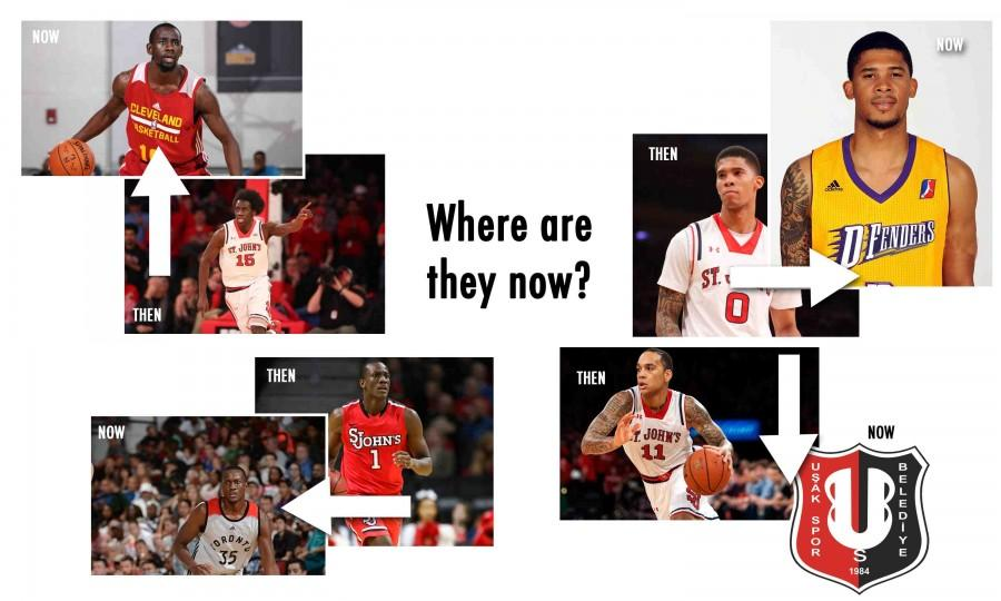 St. John's graduates are trying to find their way in professional basketball (Graphic Design: Steven Verdile: Assistant Design Editor)