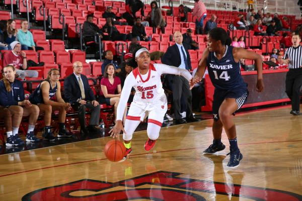 Danaejah Grant finished with 13 points, seven rebounds and four assists in the Red Storm's victory over Butler. (Photo: St. John's Athletic Communications)