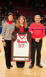 Kathryn Smith was a four-year student manager for the SJU men's basketball team. (Photo: St. John's Athletic Communications)