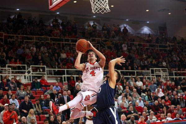 Federico Mussini scored all of his 19 points in the second half as part of the comeback effort. (Photo: St. John's Athletic Communications)